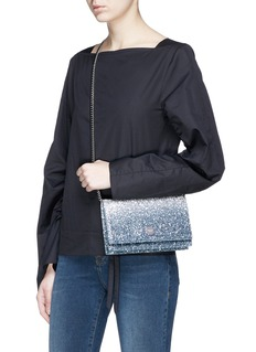 Jimmy Choo 'Florence Bre' aégradé coarse glitter crossbody bag