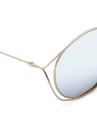 Detail View - Click To Enlarge - Dior - 'Dior Stellaire 2' metal round sunglasses