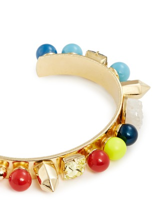 Detail View - Click To Enlarge - MOUNSER - 'Fata Morgana' rainbow bead gem cuff
