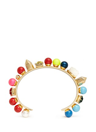 Main View - Click To Enlarge - MOUNSER - 'Fata Morgana' rainbow bead gem cuff