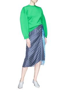 Tibi Balloon sleeve Merino wool blend sweater