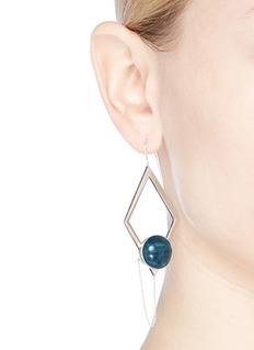 OLIVIA YAO 'Marco' apatite magnet rhombus hoop earrings