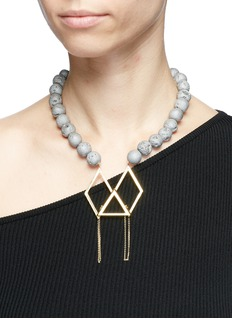 OLIVIA YAO 'Marco' beaded rhombus magnet pendant necklace