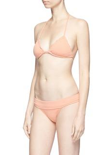 ViX 'Boucle Ripple' ruffle edge triangle bikini top