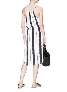 ViX 'Isla Gisele' stripe wrap dress