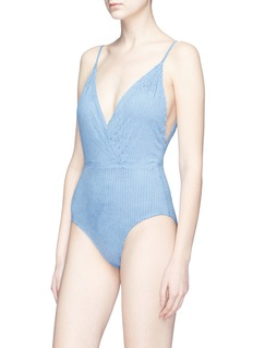ViX 'Madalena' perforated Cloud Scales one-piece swimsuit