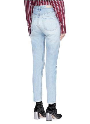 Back View - Click To Enlarge - GRLFRND - 'Karolina' distressed skinny jeans