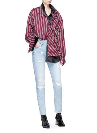 Figure View - Click To Enlarge - GRLFRND - 'Karolina' distressed skinny jeans