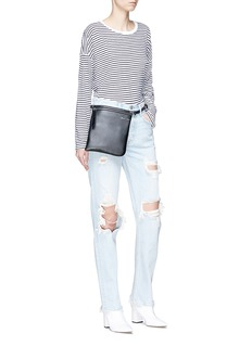 GRLFRND 'Helena' distressed straight leg jeans