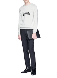 SAINT LAURENT 'Heaven' embroidered virgin wool sweater