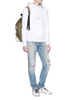 SAINT LAURENT 品牌标志纯棉连帽卫衣