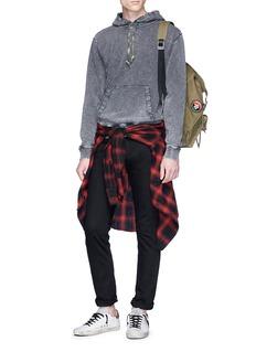 SAINT LAURENT Tie-dye drawstring hoodie