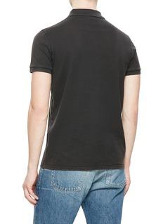 SAINT LAURENT 品牌标志信息水洗纯棉polo衫