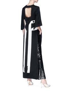 Ellery 'Magnificent 8' sash drape open side crepe tunic dress