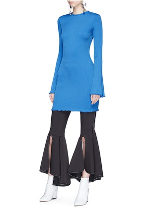Figure View - Click To Enlarge - Ellery - 'Sunshine Kid' flared sleeve rib knit mini dress