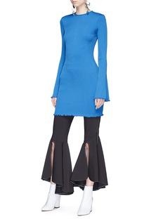 Ellery 'Sunshine Kid' flared sleeve rib knit mini dress