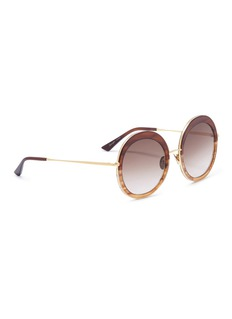 SUNDAY SOMEWHERE 'Abella' metal rim tortoiseshell acetate round sunglasses