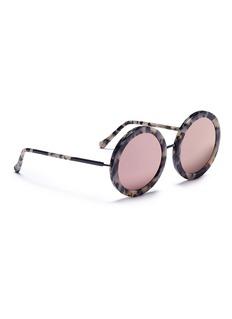 SUNDAY SOMEWHERE 'Isabella' tortoiseshell acetate round sunglasses