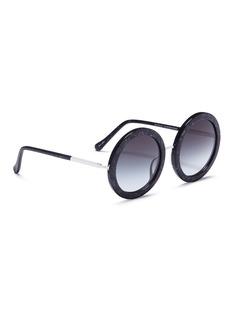 SUNDAY SOMEWHERE 'Isabella' glitter acetate round sunglasses