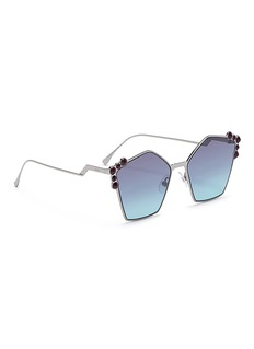 Fendi 'Can Eye' stud metal pentagon sunglasses