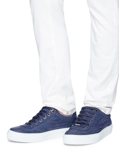 Jimmy Choo 'Ace' croc embossed leather sneakers