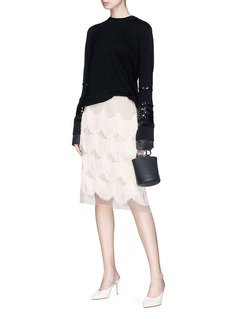 Marc Jacobs Scalloped fringe organdy skirt