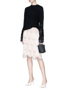 Marc Jacobs Scalloped fringe organdy skirt