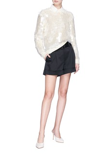 Marc Jacobs Pleated cotton poplin shirt