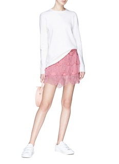 Marc Jacobs Scalloped fringe mini skirt