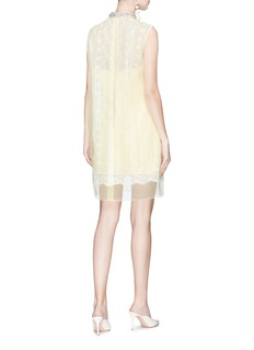 Marc Jacobs Embellished organdy overlay floral guipure lace dress