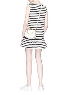 Marc Jacobs Pompom stripe sleeveless jersey dress