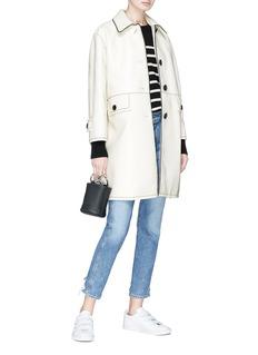 Marc Jacobs Patent balmacaan coat
