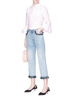 Marc Jacobs Ruffle cuff Oxford shirt