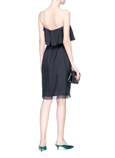 Marc Jacobs Bow flared top belted silk dress