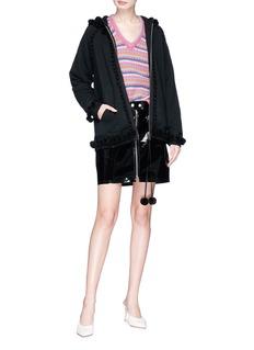 Marc Jacobs Pompom zip hoodie