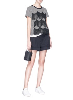 Marc Jacobs Scalloped fringe stripe T-shirt