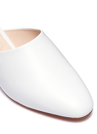 Detail View - Click To Enlarge - Nicholas Kirkwood - 'Casati' faux pearl heel leather mules