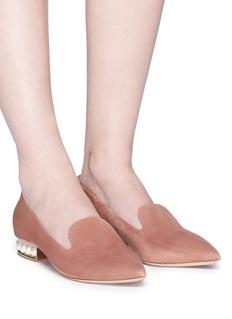 NICHOLAS KIRKWOOD CASATI人造珍珠绒面真皮乐福鞋