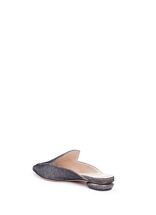 Detail View - Click To Enlarge - Nicholas Kirkwood - 'Beya' metal heel Lurex loafer mules