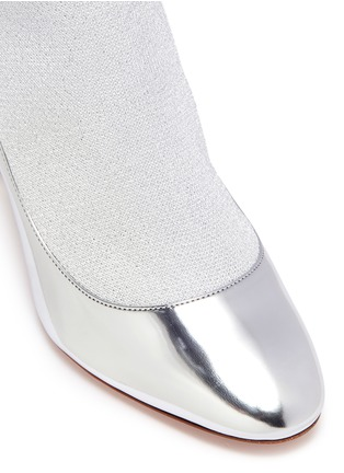 Detail View - Click To Enlarge - Nicholas Kirkwood - 'Lola Pearl' knit sock mirror pumps