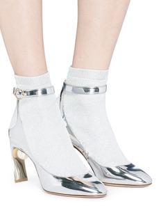 Nicholas Kirkwood 'Lola Pearl' knit sock mirror pumps