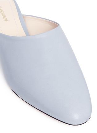 Detail View - Click To Enlarge - Nicholas Kirkwood - 'Casati' faux pearl heel leather mules