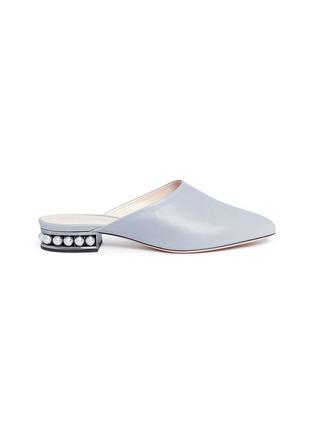 Main View - Click To Enlarge - Nicholas Kirkwood - 'Casati' faux pearl heel leather mules