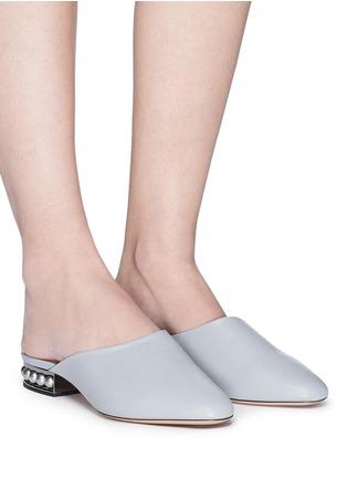Figure View - Click To Enlarge - Nicholas Kirkwood - 'Casati' faux pearl heel leather mules