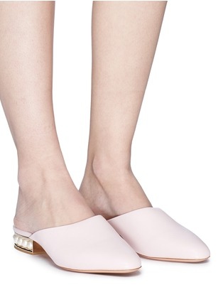 Figure View - Click To Enlarge - Nicholas Kirkwood - 'Casati' faux pearl heel leather mules