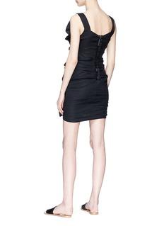 Isabel Marant Étoile 'Topaz' ruffle ruched mini dress