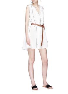 Isabel Marant Étoile 'Mayla' ethnic embroidered tassel sleeveless dress