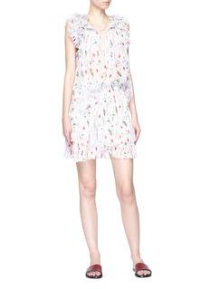 Isabel Marant Étoile 'Earley' graphic print smocked crepe mini skirt