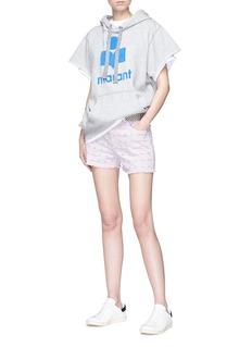 Isabel Marant Étoile 'Milsey' logo flock print hoodie
