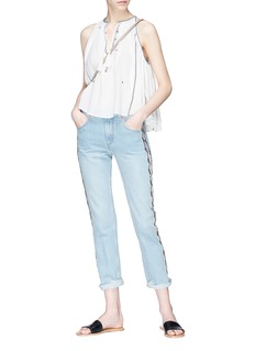 Isabel Marant Étoile 'Mysen' ethnic embroidered tassel sleeveless top
